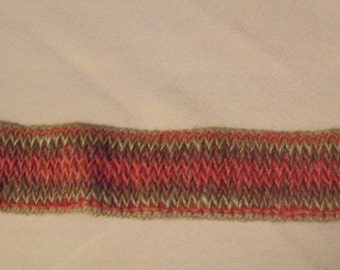 Orange and Brown Belt Fabric