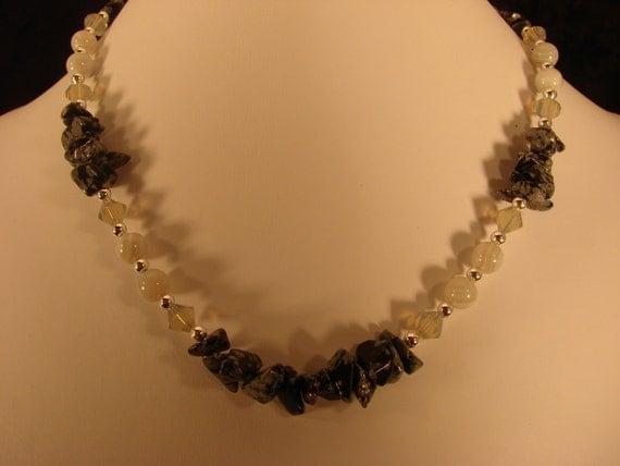 Snowflake Obsidian Sparkle