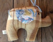 Jim Plush Brown Upcycled Elephant