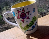 Namaste mug spring colors mothers day yoga coffee tea