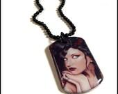 Lady Monarch Mini Dog Tag Necklace