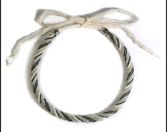 Fairy Bride twisted herringbone necklace