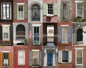 SALE - 8 x 10 - Collage Photograph - Windows in Philly
