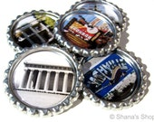 Nashville, TN - Music City USA - Bottle Cap Photo Magnet Set at Shana's Shop on Etsy