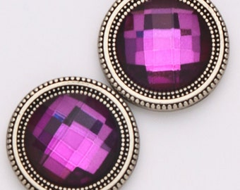 Magnet Button Purple Crystal For Sweaters & Scarves