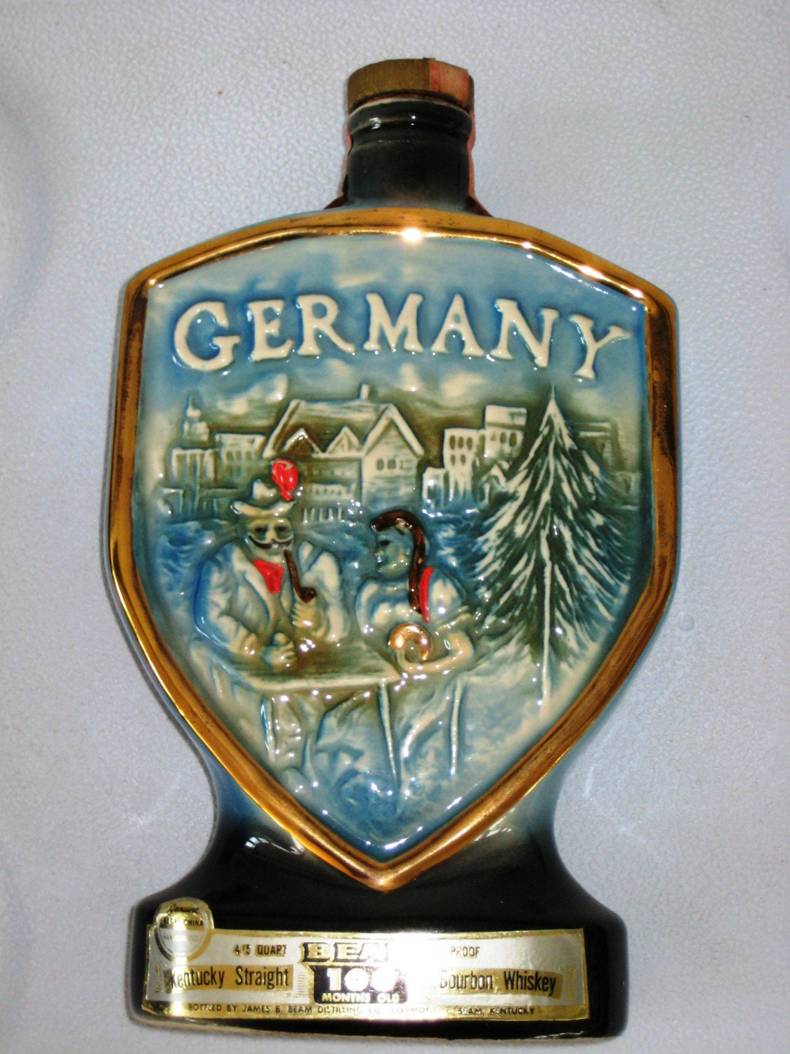 Vintage Jim Beam Collectible Whiskey Bottle Germany 1970