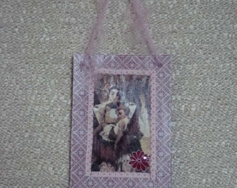 Amari De, Gypsy Goddess of Motherhood and Protection, Altered Art Card ACEO