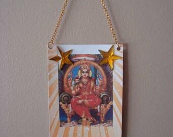 Gauri, Hindu Goddess of Purity, Altered Art Card ACEO