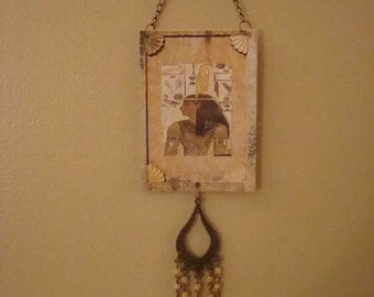 Maat, Egyptian Goddess of Order, Truth, and Justice, Altered Art Card ACEO