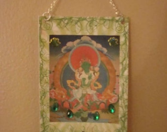 Tara, Buddhist Goddess of Compassion, Altered Art Card ACEO