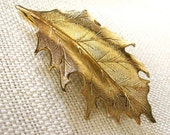 18k Golden Leaf Hair Piece - bethanylorelle