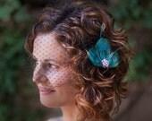 Tri Peacock Feather Fashion Hair Clip