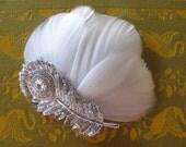 Peacock Wedding Hair Accessories - vintage wedding - crystal hair piece  - silver - Bridal Hair Clip