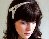 Silver Eiffel Tower Beaded Headband Women and Teens