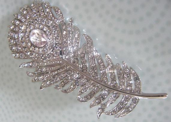 Peacock Bridal Crystal Hair Clip Wedding Hair Accessories