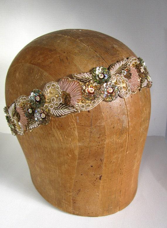 Grecian Gold Beaded Headband - Women, Adult, Teen