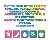 Printable Colorful Scripture  - Galatians 5:22-23 - Fruit of the Spirit