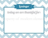 Personalized Chevron Thankful Print - Today We Are Thankful For ...