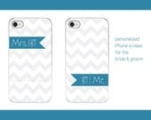 Wedding Bride & Groom iPhone Cases, personalized iPhone covers, Mr. Mrs