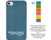 """Custom iPhone case,  """"Those aren't the droids you are looking for"""" Star Wars movie quotation case"""