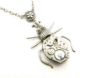 Steampunk Silver Specimen Necklace
