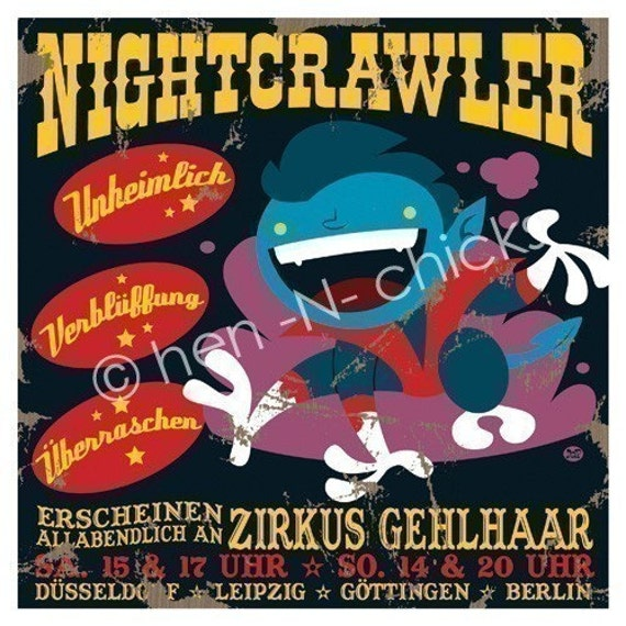 Nightcrawler 8x8 print
