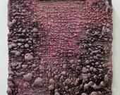 TEXTURE. MAUVE with PINK - Original Encaustic on Canvas