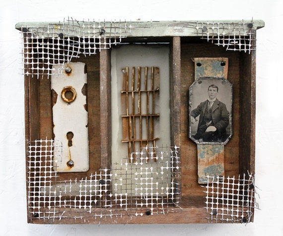 WHAT'S LEFT- Original Mixed Media Assemblage