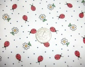 Ladybug Fabric, Cotton Pique, Children's Wear, Dress Making, Sewing, Yardage,
