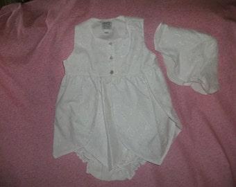 Infant Dress,White Cotton Eyelet,3mo,6mo,12mo,18mo,24mo,