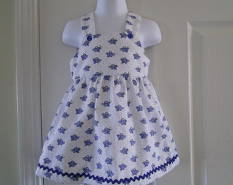 Sundress, Summer, Bluebirds, Newborn,6mo, 12mo,18mo, 24mo,3t,4t
