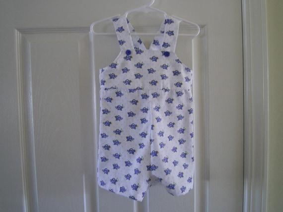 Boys Overall, Boys Shortall, Bluebird Print, Cotton Overalls, Newborn Overalls, Toddler overalls, Summer Overalls