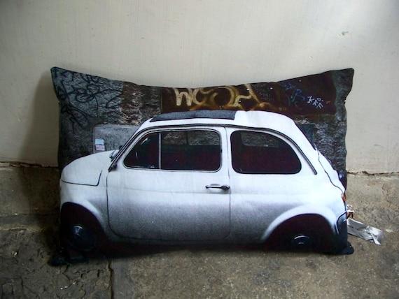 SALE - Fiat 500 Car Cushion / Pillow