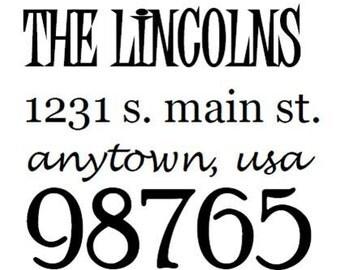 Custom Address Stamp: Style - Lincoln