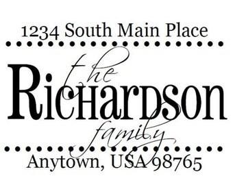 Custom Address Stamp - Style: Richardson