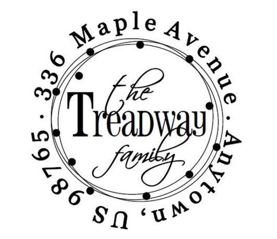 Custom Address Stamp - Treadway