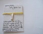 Whisper Necklace - believe