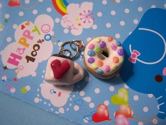 Kawaii Coffee and Donut Charms