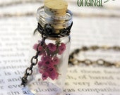 Bonnie Wee Lass Necklace - Flowers of Heather in a Tiny Bottle