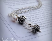 Necklace - As You Wish Necklace - Wish Necklace - Victorian Bottle Necklace - Full of Dandelion Seeds - Long Necklace