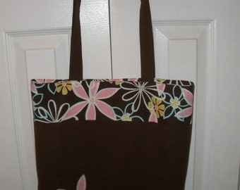 Tote Book or School Bag  with Applique -PDF Pattern includes Applique instructions Great for beginners