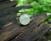 Sterling Rainbow Moonstone Ring - Adjustable OR Solid Band