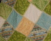 Little Boy Rag Quilt with Airplanes