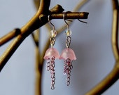 Pink Jellyfish Earrings
