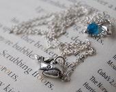 Little Silver Whale Necklace - SALE-