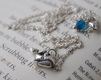 Little Silver Whale Necklace | Cute Whale Charm Necklace |  SALE