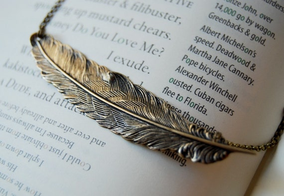 Large Feather Necklace