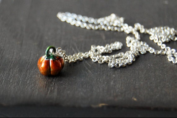 Teeny Tiny Pumpkin Necklace