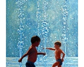 Little Squirts - Original Stillman Giclee on Signed Archival Paper, 14x22 in.