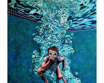 The Plunge no.3 - Original Stillman Giclee on Signed Archival Paper, 14x18 in.